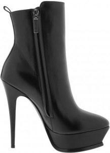 Black Tribute Platform Ankle Boots-Saint Laurent