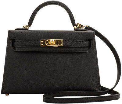 Black VIP Mini Kelly II Bag-Hermes