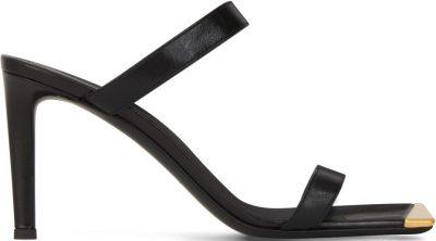 Black Vanilla High Heel Leather Sandals-Giuseppe Zanotti