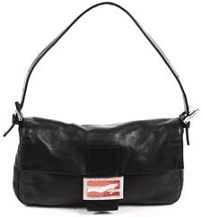 Black Vintage Baguette Bag-Fendi