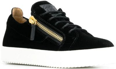 Black Zip Detail Sneakers-Giuseppe Zanotti