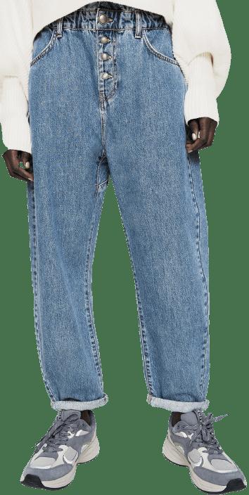 Blue Baggy Jeans-Zara