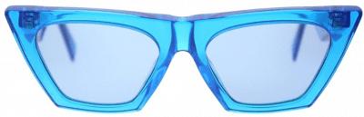 Blue Cat Eye Transparent Sunglasses