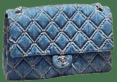 Blue Large Flap Bag-Chanel