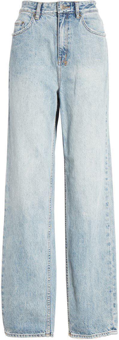 Blue Playback Karma High Waist Straight Leg Jeans-Ksubi