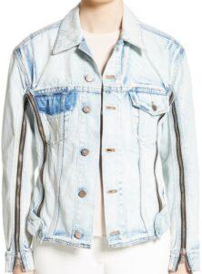Blue Zipper Detail Denim Jacket-3.1 Phillip Lim
