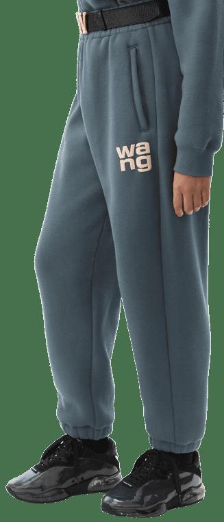 Blue Fleece Logo Sweatpants