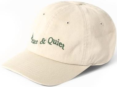 Bone Wordmark Warped Hat-Museum of Peace & Quiet