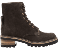 Brown Mozart Suede Lace-Up Ankle Boots