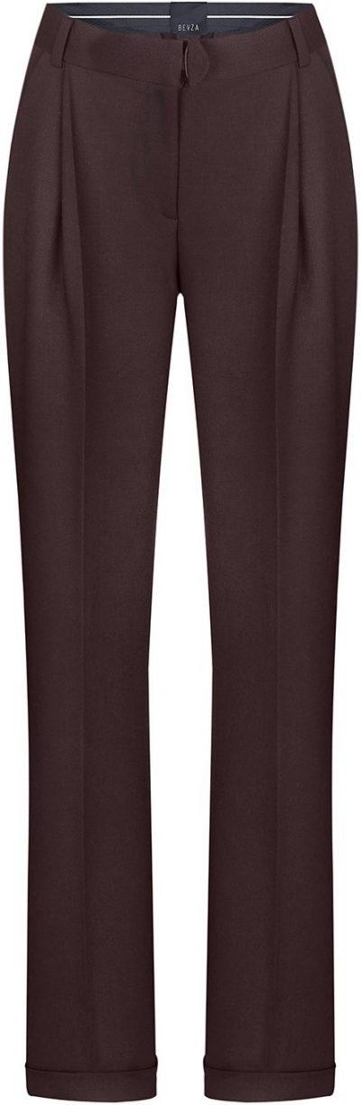 Brown Straight Leg Pants-Bevza