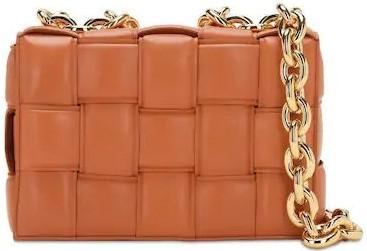 Brown The Chain Cassette Shoulder Bag-Bottega Veneta