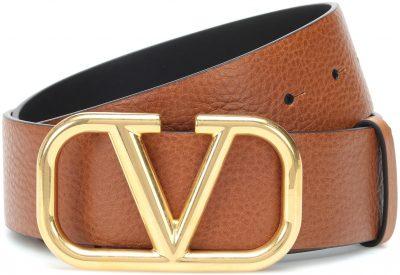 Brown VLOGO Leather Belt-Valentino