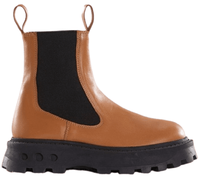 Buttery Toffee Chelsea Platform Pull-On Boots