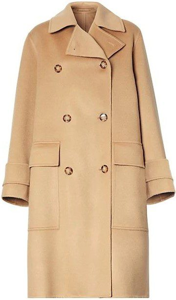Camel Ersdon Cashmere Double Breasted Coat-Burberry