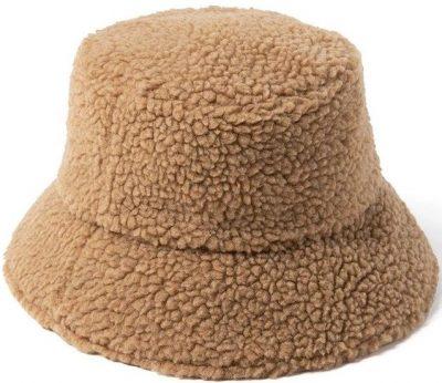 Camel Teddy Bucket Hat-Lack Of Color