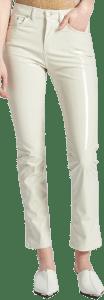 Cream Vinyl Trousers-Fiorucci
