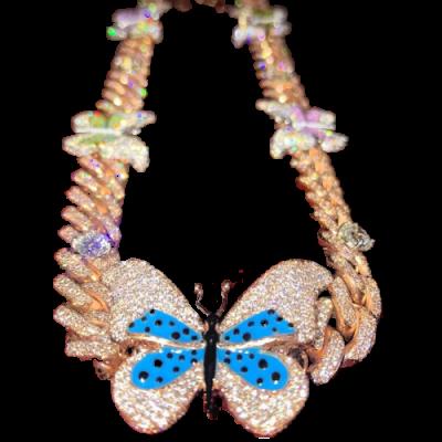 Custom Diamond Butterfly Necklace