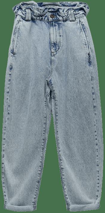 Faded Blue Z1975 Baggy Paperbag Jeans-Zara