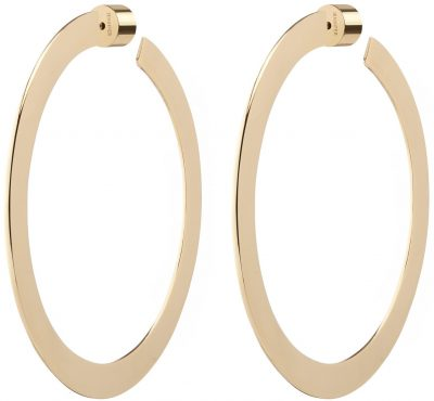 Gold 2 Inch Drew Hoop Earrings-Jennifer Fisher