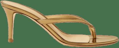 Gold Calypso 70 Leather Sandals-Gianvito Rossi