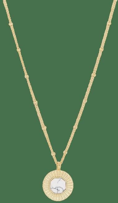 Gold Gemstone Coin Necklace-Gorjana