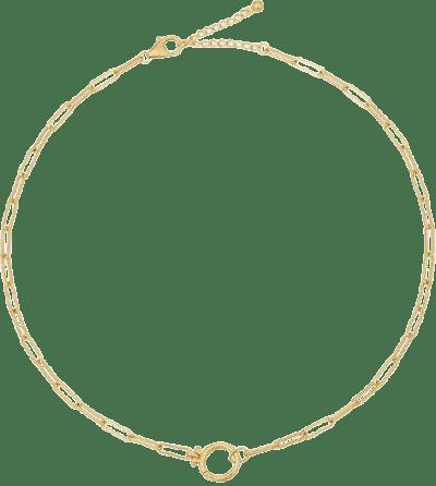 Gold Lockstep Necklace