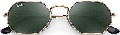 Gold Octagonal Classic Sunglasses-Ray-Ban