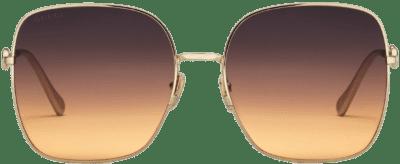 Gold Oversize Square-Frame Sunglasses-Gucci