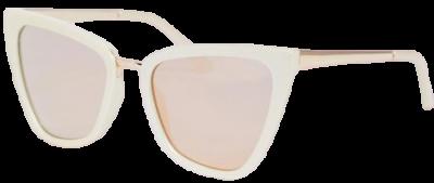 Gold Reina Cat Eye Sunglasses-Quay