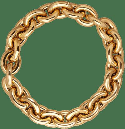 Gold Rolò Chain Necklace-Bottega Veneta