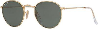 Gold Round Metal Sunglasses-Ray-Ban