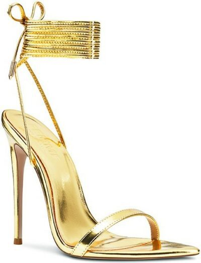 Gold The London Lace-Up Oro Sandals-Femme Shoes