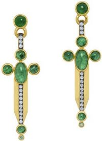 Gold The Sword Earrings-Sauer