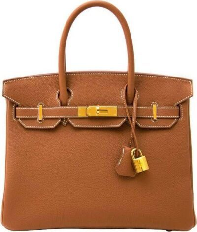 Gold Togo GHW Birkin 30 Handbag-Hermes