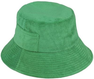 Green Terry Wave Bucket Hat-Lack Of Color