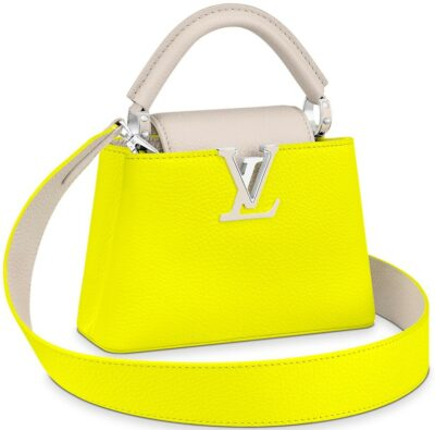Jaune Fluo Capucines Mini Handbag-Louis Vuitton