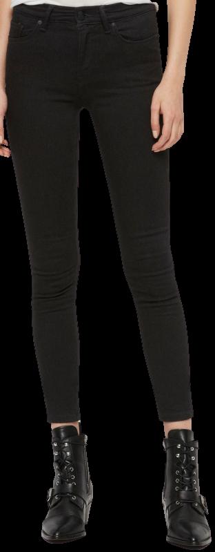 Jet Black Grace Skinny Mid-Rise Jeans-AllSaints