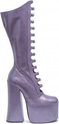 Lilac Kiki Platform Buckle Boot-Marc Jacobs