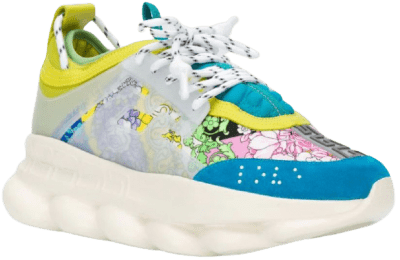 Multicoloured Chain Reaction Leather Sneakers-Versace