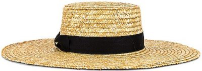 Natural Woven Straw The Spencer Wide Brimmed Boater Hat-Lack Of Color