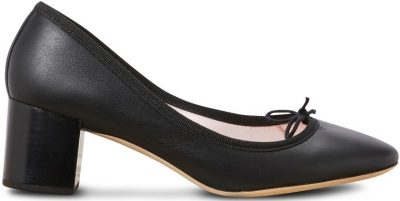 Noir Farah Heeled Ballet Pumps-Repetto