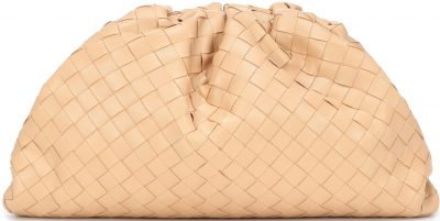 Nude The Pouch Intrecciato Leather Clutch-Bottega Veneta