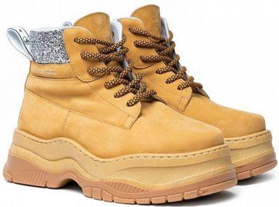 Ocher Yellow Working Boots