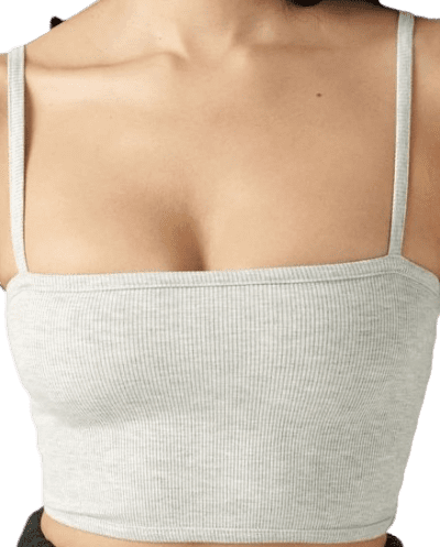 Pearl Grey Cropped Cami