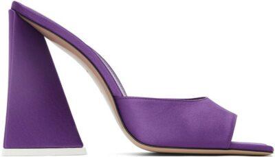 Purple Devon Heeled Mules-The Attico