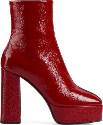 Red Morgana Leather Boots-Giuseppe Zanotti