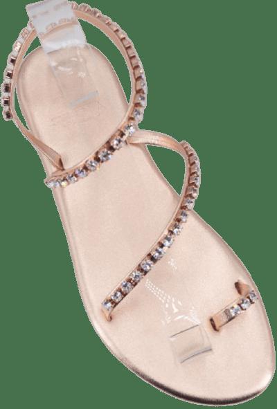 Rose Gold Luxor Thong Sandal-Syrenia Capri Sandals
