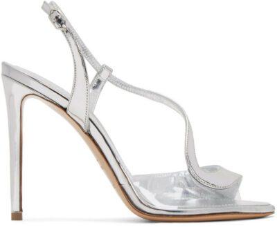Silver Patent S Sandals-Nicholas Kirkwood