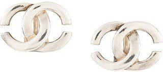 Silver Vintage Cc Earrings-Chanel