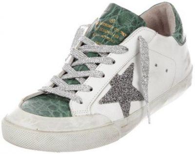 Superstar Crystal Crocodile Low-Top Sneakers-Golden Goose